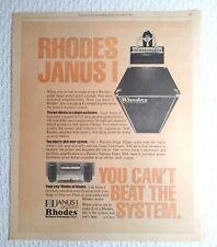 Original 1979 Print Ad Rhodes Keyboard Piano Music Janus I Modular System