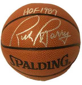 RICK BARRY SIGNED NBA BASKETBALL HOF 1987 GOLDEN STATE WARRIORS MINI BALL 📘
