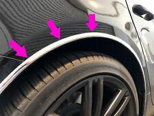 Fit 2009-2018 Fiat Chrome L-SHAPE Wheel Well Fender Trim Molding Kit 4pcs