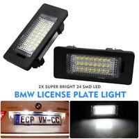 2Pcs LED SMD Car Rear License Number Plate Light Fit BMW E39 E60 E90 X5