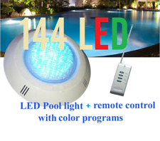 New 144 LED Pool Lights + Remote Control + Color program With Free Connector