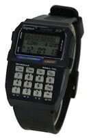 VINTAGE RETRO BLACK DATA BANK CALCULATOR DIGITAL MULTIFUNCTION SPORT WATCH