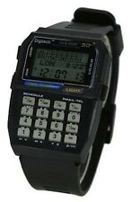 VINTAGE RETRO BLACK DATA BANK CALCULATOR DIGITAL MULTIFUNCTION SPORT WATCH