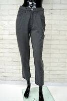 Pantalone TRUSSARDI JEANS Donna Taglia 36 Pants Woman Jeans Slim Elastico Corto