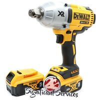 "DeWalt 20V DCF897B MAX XR Li-Ion 3/4"" High Torque Impact Wrench 5.0 Ah Batteries"