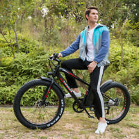 26inch Fat Tire Electric Bicycle 21 Speed Beach E-Bike 36V 10AH Lithium Battery