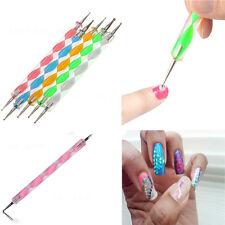 Newest Fancy 5Pcs 2 Way Dotting Tool Set For Nail Art  Manicure Pedicure Fashion