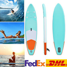 10ft Inflatable Surfboard SUP Stand Up Paddle Board Paddle Pump & Carry Bag DHL