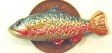 1:12 Scale Single Polymer Clay Fish For A Dolls House Kitchen Shop Accessories T