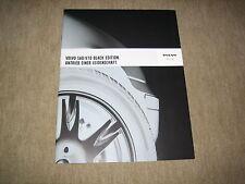 Volvo S60 & V70 Black Edition Prospekt Brochure von 9/2003, 32 Seiten