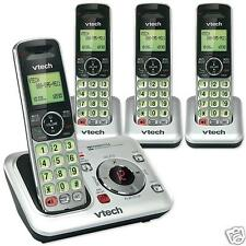 VTECH CORDLESS PHONE SYSTEM (4)FOUR WIRELESS HANDSETS ANSWERING MACHINE CS6