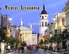 Lithuania - VILNIUS - Travel Souvenir Flexible Fridge Magnet