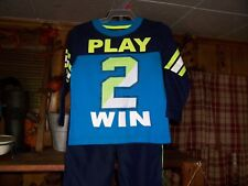 HEALTHTEX BOY TODDLER 2 PIECE SHIRT AND PANTS SET SIZE 2 T PLAY TO WIN SPORTS