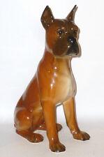 Grande Goebel Cane Boxer Statuina Statuetta Figura in porcellana dog dogs 33cm
