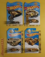 (Lot 4) Hot Wheels SPECIAL GOLD EDITION 2016 2017 2018 50th HW Anniversary
