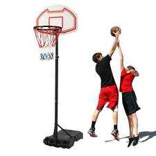 "7' Adjustable Basketball Hoop Outdoor Wheels Height 29"" Backboard Play Trainning"