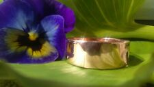 Bespoke, Hand Made, One Of A Kind Copper Wide Ring Band. 8mm high, 1.5 mm thick