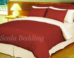 100% Egyptian Cotton 1000TC 5 Piece Reversible Stripe Duvet Cover All Size/Color