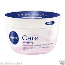 Nivea Sensitive Creme With Aloe Vera - Face & Body - 200 ml / 6.76 fl oz
