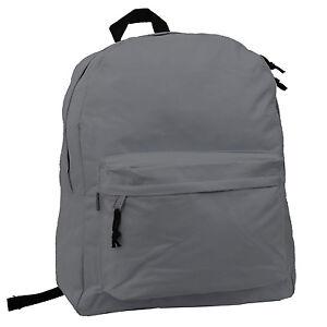 Classic Backpack Simple Bookbag 18 Inch Student School Bag Basic College Daypack