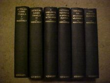 6 VOL THEODORE ROOSEVELTSET 1920 SCRIBNER'S AFRICAN GAME TRAILS, ROUGH RIDER mor
