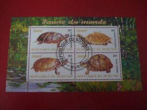 BURUNDI - 2011 TORTOISE & TURTLES -  MINISHEET - UNMOUNTED USED MINIATURE SHEET
