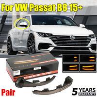 1Pair For VW Passat B8 15+ Side Mirror Dynamic Turn Signal LED Light Indicator