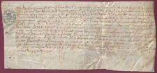 Ancient French Document on Vellum From Normandy, 1592