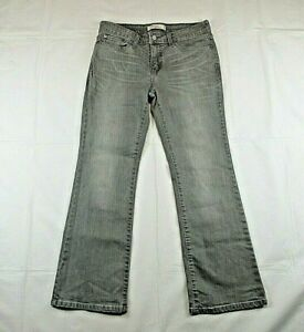 Levi Strauss 515 Women's Sz 8M Jeans Gray Bootcut Skinny Stretch Mid-Rise