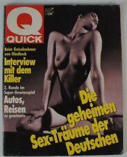 Die geheimen Sex Träume der deutschen Quick Heft 17 1990 Erotikmagazine  B7505
