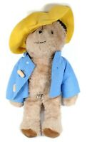 Vintage Eden Paddington Musical Bear Plush Blue Jacket Yellow Hat Black Ears