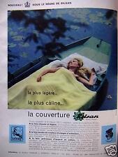 PUBLICITÉ 1959 LA COUVERTURE RILSAN LAINÉ OURSON - ADVERTISING