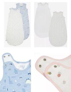 Mothercare Baby Sleeping bags 2 Pack Boys Girls Dinosaurs Blanket 2.5 Tog NEW