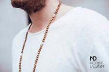 Men's Collana in legno Jasper norbis Design Originale Perline rotonda naturale 30 pollici
