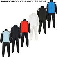 New Mens Boys Sports Tracksuits Matching Team Kit Plain Training Strip Football