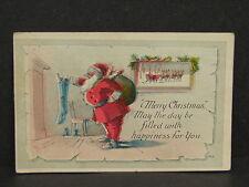 Antique Vintage Santa Claus Merry Christmas Artist Signed FHCW Post Card
