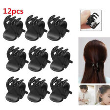 12Pcs Black Plastic Mini Hair Claw Clip Clamp Styling Accessory for Kids Girls