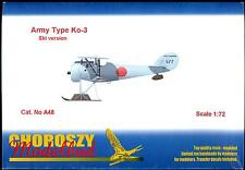 Choroszy Models 1/72 JAPANESE ARMY TYPE Ko-3 FIGHTER WITH SKIS