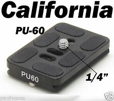 PU-60 Quick Release Plate Tripod ball head Arca Swiss QR 60mm x 38mm Camera