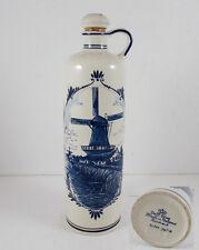 Flasche mit Windmühlen Dekor