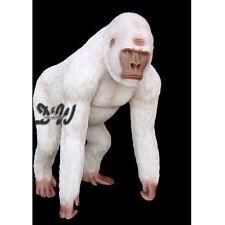 Großer GORILLA weiß 130 cm lebensgroß stehend Deko Garten Tier Film Figur KINO