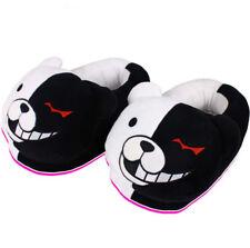 Danganronpa Monokuma Slippers Teddy Bear Soft Plush Stuffed Heel Covered Shoes