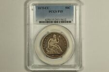1875-CC Seated Liberty Half Dollar PCGS F15