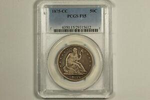 1875-CC Seated Liberty Half Dollar PCGS F15