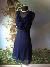 Jonathan Martin Women Blue Sleeveless Chiffon Dress SZ 6
