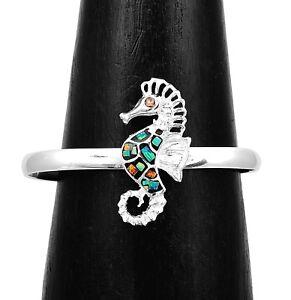 Multicolor Opal Seahorse Symbol of Persistance Bracelet Taxco Mexico