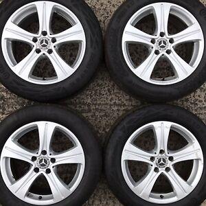 "Genuine Mercedes Benz 17"" Alloy Wheels E-Class 5 Spoke Tyres 225 55 A2134011200"