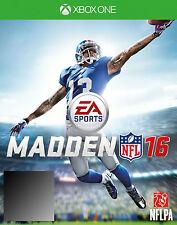 Madden NFL 16 XBox one XBoxone Games PAL New Sealed