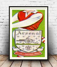 Arsenal  : Reproduction  1950's Cigarette card artwork  , poster, Wall art.