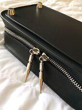Diesel Black Gold Four-2 Leather Clutch Bag Black